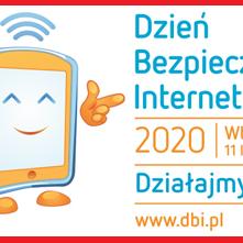 """Obrazek newsa DBI 2020 """"Dzień Bezpiecznego Internetu: Działajmy razem!"""""""