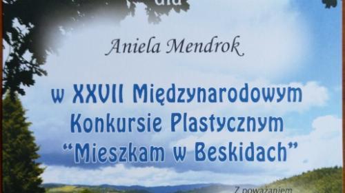 """Obrazek galerii LAUREACI XXVII MIĘDZYNARODOWEGO KONKURSU PLASTYCZNEGO """"MIESZKAM W BESKIDACH"""" - 2019/2020"""