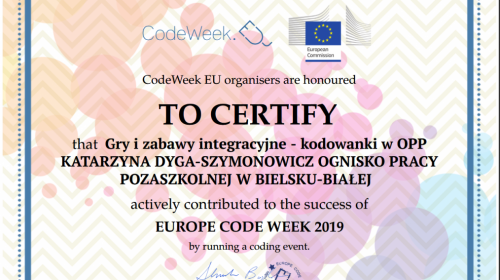 Obrazek galerii Europejski Tydzień Kodowania CODE WEEK 2019