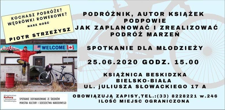 Obrazek newsa Spotkanie z podróżnikiem w książnicy. Zaproszenie dla dzieci.